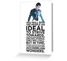 Superman Typography  Greeting Card
