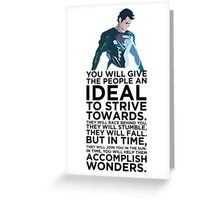Superman Typography Part 2 Greeting Card