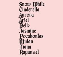 The princesses of Disney names by sweetsisters
