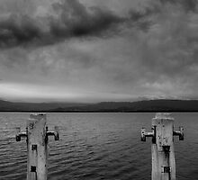 Rain Heavy Skies, Boonerah Point, NSW by Stephen  Jarrett