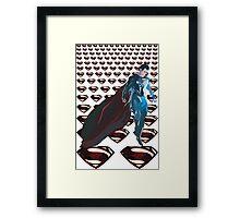 Superman LOGOS Framed Print