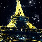 Stars and the Eiffel Tower by Emlyn Bell