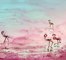 Flamingos in The Camargue 03 by Goodaboom