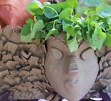 Ruth King - Garden Masks & Planters - #1 of 2 by seeingred13