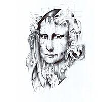 Behind Mona Lisa Photographic Print