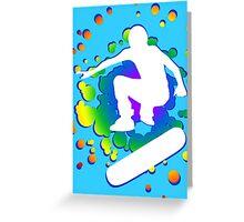 skatboard bubbles Greeting Card