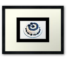 Cream Cheese Blueberry And Blackberry Bundt Cake With Recipe Framed Print