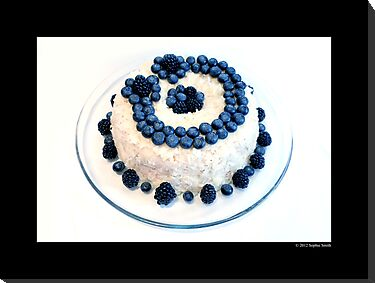 Cream Cheese Blueberry And Blackberry Bundt Cake With Recipe by © Sophie W. Smith