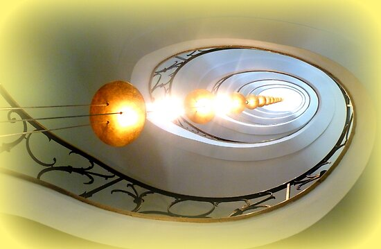 Art Deco Staircase by ©The Creative  Minds