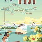 Coral Route - Fiji and Solent flying boat by contourcreative