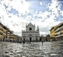 Santa Croce, Florence, Italy (HDR / Fisheye) * by Justin Mitchell