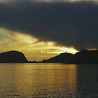 Sunset over the Fjords by Steve plowman