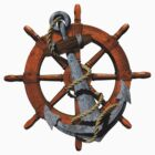 Captain's Wheel And Anchor by BailoutIsland