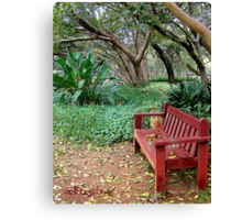 The Zen Of A Bench Canvas Print