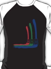 RGB Paint Brushes T-Shirt