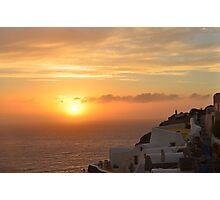 Oia Sunset Photographic Print