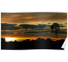 Hay Sunset Poster
