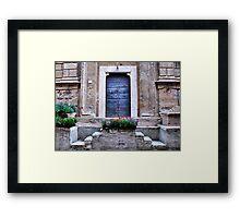 One-Pienza, Italy Framed Print