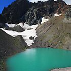 Three Fingered Jack, over a Cerulean Lake by DArthurBrown