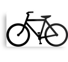 bike silhouette Metal Print