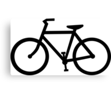 bike silhouette Canvas Print