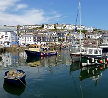 Mevagissey- Inner harbour by mikebov