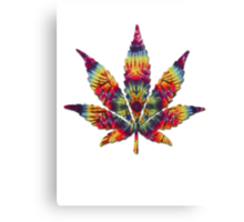 Tie Dye Pot Leaf Canvas Print