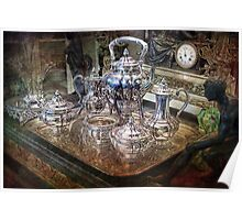 Antique Tiffany Sterling Silver Coffee Tea set Poster