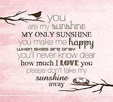 You Are My Sunshine – Nest – 4:5 – Pink  by Janelle Wourms