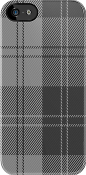 02882 Erskine Grey Tartan Fabric Print Iphone Case by Detnecs2013
