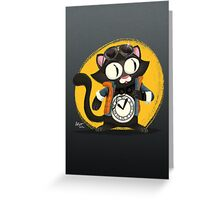 Time-Cat Greeting Card
