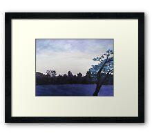 Meadow at Dusk Framed Print