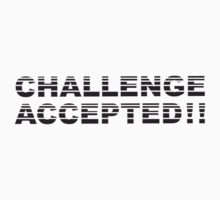 Challenge Accepted Stripes Design by Style-O-Mat
