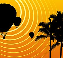 sunscene ballooning by maydaze