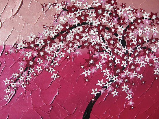 Pink cherry blossom tree - Japanese - card phone cover / case by cathyjacobs