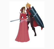 Aerith (Pink) And Cloud - Sleeping Beauty by FFSteF09
