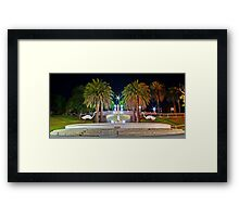 """""""Evening At The Fountain"""" Framed Print"""