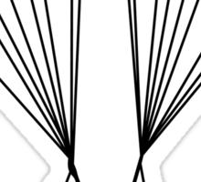 skydiver silhouette Sticker