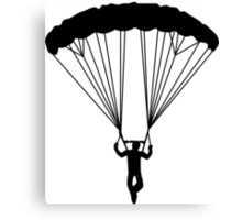 skydiver silhouette Canvas Print
