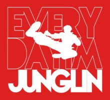 Every Day Im Junglin (White) by OddGog