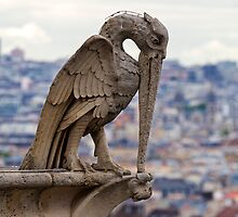 YES it's me, your Big Brother watching you from the roof of Notre-Dame  by Aleksandar Topalovic