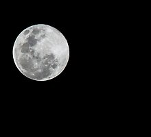 Supermoon 23rd June 2013 - View from Australia by Kathie Nichols