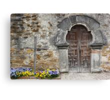 Espada Doorway and Cross Canvas Print