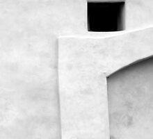 San Juan Wall Detail 1 Black and White by marybedy