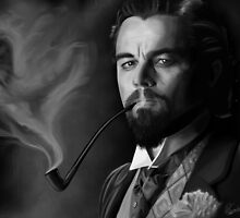 Leonardo DiCaprio as Calvin J. Candie BW by Richard Eijkenbroek