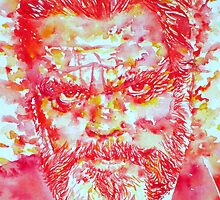 ORSON WELLES watercolor portrait by lautir