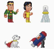 Krypton Pixel Figure Sticker Set by Pixelfigures