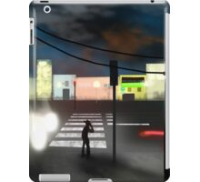 Thirsty cowboy waiting for a green light iPad Case/Skin