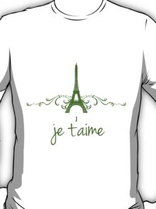 Green Vintage French Flourish T-Shirt