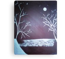 Snow Fields - Acrylic Painting Canvas Print